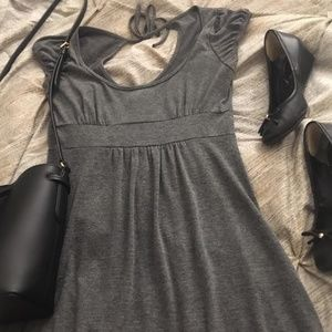 Charcoal Knit Gray Body Central Dress